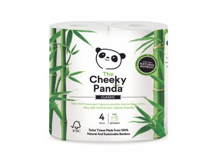 cheeky panda toaletni papir 3 vrstvy 200 utrzku 4 role 1296