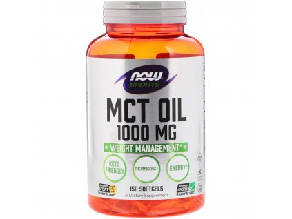 Now Foods MCT oil 1000 mg 150 softgels front