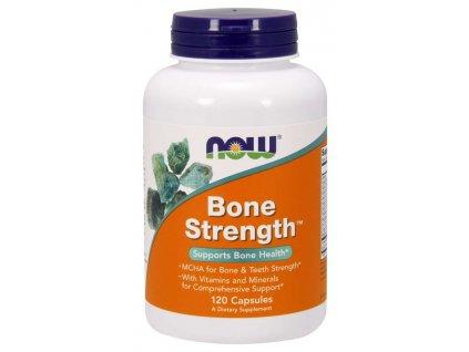 NOW Bone Strength, (silné kosti), 120 kapslí