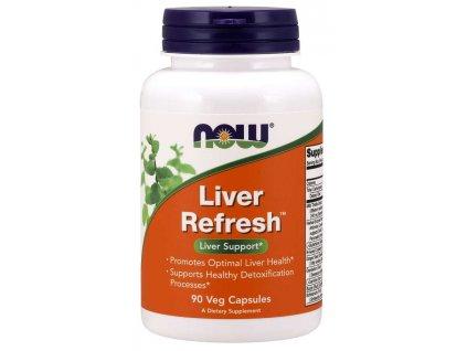NOW Liver Refresh (podpora jater), 90 rostlinných kapslí