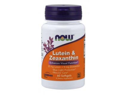 NOW Lutein & Zeaxanthin (zdraví očí), 60 softgel kapslí