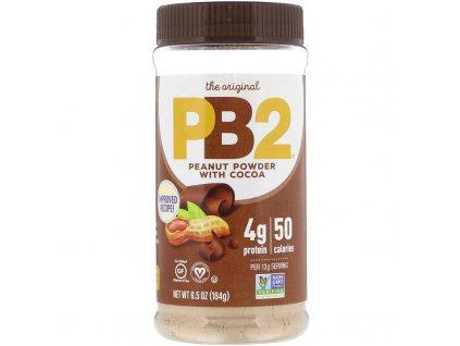 PB2 Foods Arašídové máslo s čokoládou 184g
