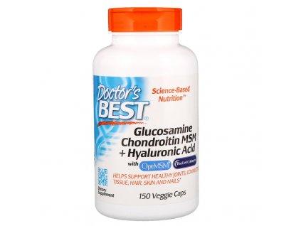 Glucosamine Chondroitin MSM + Hyaluronic Acid, 150 kapslí