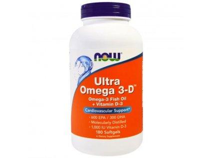 Now Foods Ultra Omega 3 D 180 softgel front