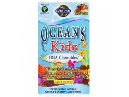 garden of life ocean kids dha omega 3 pro deti 120 tobolek