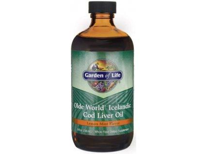 olde world icelandic cod liver oil lemon mint 236 ml 1 g