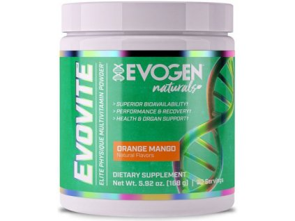 evovite naturals powder orange mango 168 g 1 g