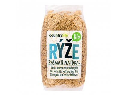 CountryLife - Rýže basmati natural BIO, 500g