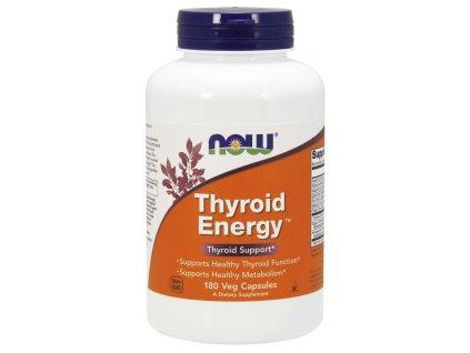 NOW Thyroid Energy (Štítná žláza), 180 rostlinných kapslí