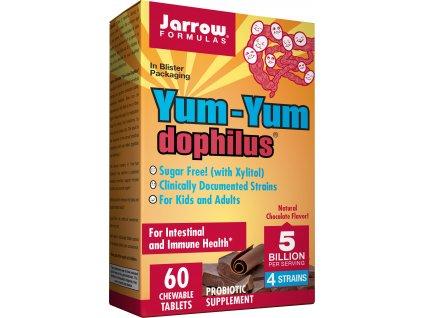 Jarrow Yum Yum Dophilus 5 milard organismů (Probiotika pro děti), Čokoláda, 60 žvýkacích pastilek Záznam byl v pořádku uložen.