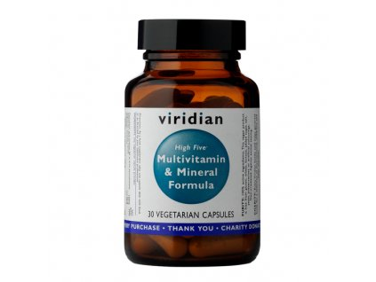 Viridian High Five Multivitamin & Mineral Formula