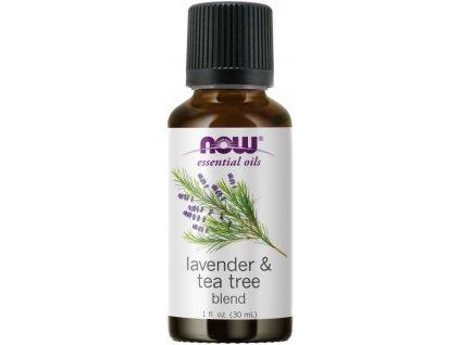 NOW Essential Oil, Lavender & Tea Tree Oil (éterický levandulový + tea tree olej), 30 ml