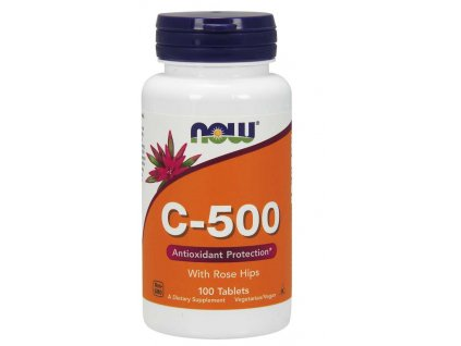 NOW Vitamin C 500 s šípkem, 100 tablet