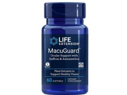 Life Extension MacuGuard Ocular Support with Saffron & Astaxanthin, oční podpora, 60 kapslí