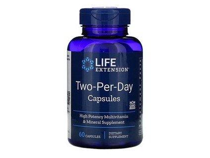 Life Extension Two Per Day multivitamín, 60 kapslí