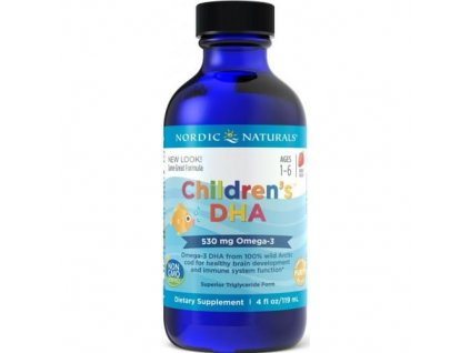 Nordic Naturals Childrens DHA 530mg Strawberry 119 ml