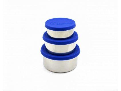 nerezový box na jidlo modra Made Sustained sillicon round lunchbox