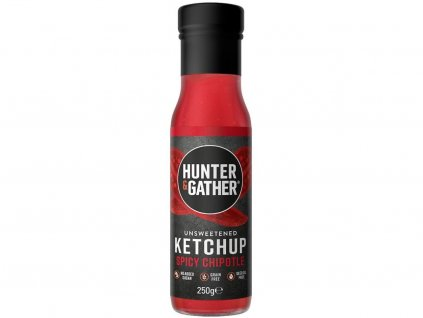 2180 hunter gather rajcatovy kecup bez cukru a sladidel spicy chipotle 250g