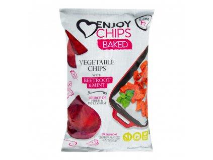 Enjoy Chips - Baked - Červená řepa a máta, 40g