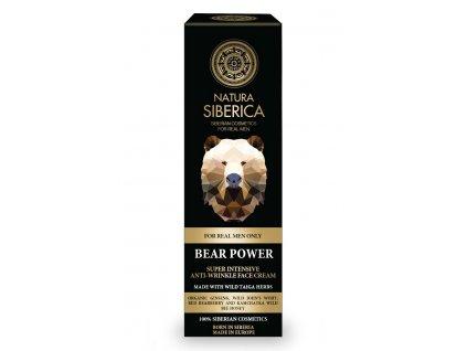 Natura Siberica, Muži - Krém proti vráskám Síla medvěda, 50 ml