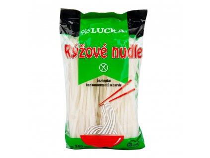 Těstoviny nudle rýžové 3 mm bezlepkové 240 g LUCKA