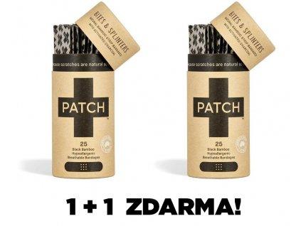 PATCH Bambusové náplasti s aktivním uhlím, 25 ks 1+1 ZDARMA