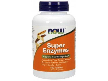 NOW Super Enzymes, komplexní trávící enzymy, 180 tablet
