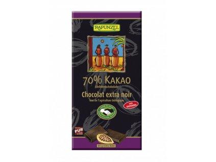 Rapunzel - Hořká čokoláda 70% BIO, 80 g  CH-BIO-004