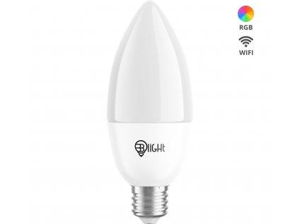 Chytrá žárovka Blight LED, závit E14, 5,5 W, WiFi, APP, stmívatelná, barevná