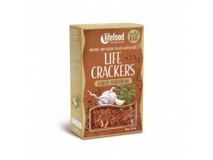LifeFood - Life Crackers à la bramborák česnekové s majoránkou BIO , 90 g  CZ-BIO-002 certifikát