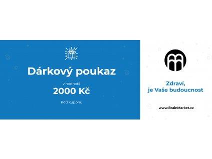 darkový poukaz BrainMarket 2000kc