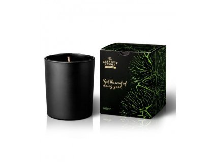 the greatest candle vonna svicka v cernem skle 170 g mojito