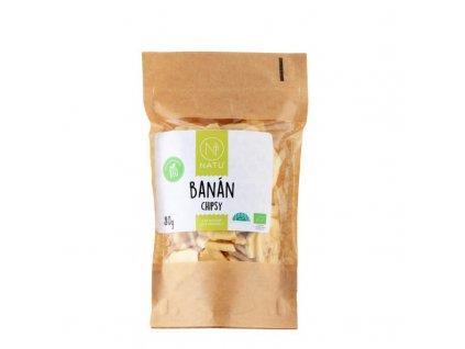 banan chipsy bio 80g
