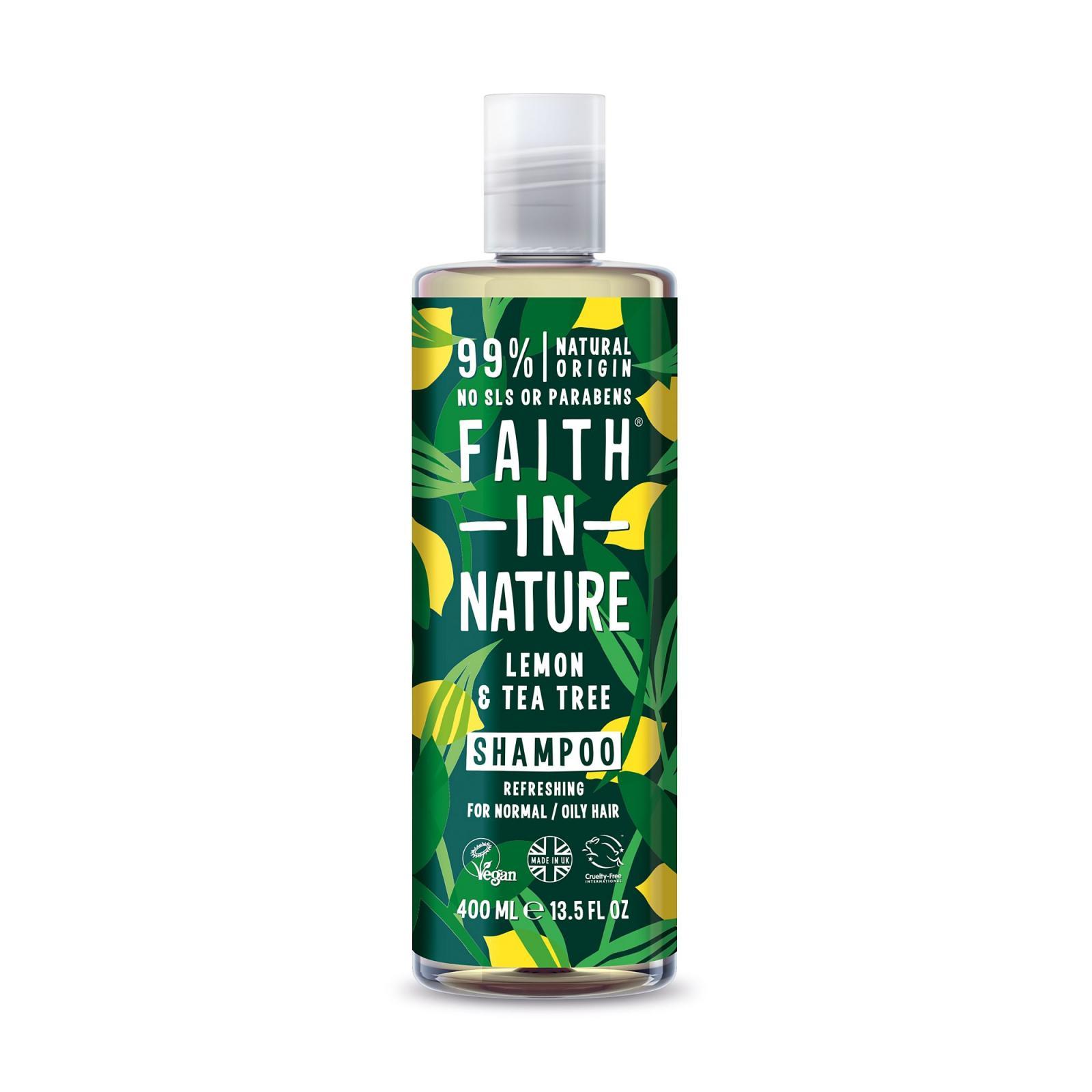 Faith in Nature, Šampon proti lupům - Citrón a Tea Tree, 400ml