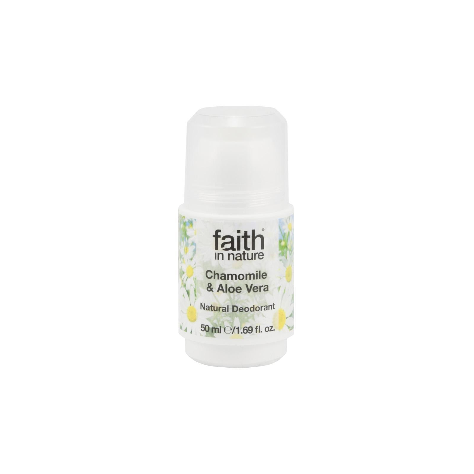 Faith in Nature, Kuličkový deo-krystal Bio Aloe Vera/Heřmánek, 50g
