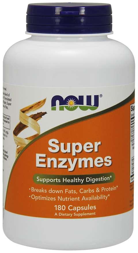 NOW® Foods NOW Super Enzymes, komplexní trávící enzymy, 180 kapslí