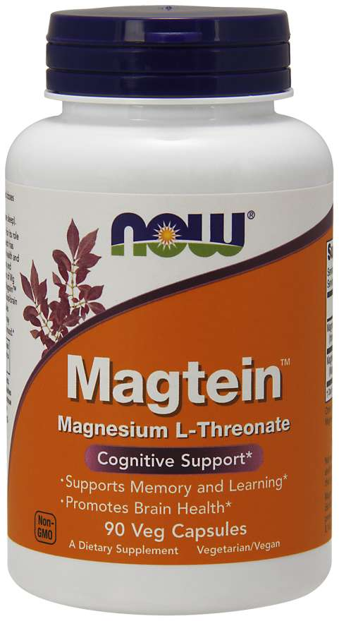 NOW® Foods NOW Magtein Magnesium (hořčík L-treonát), 90 rostlinných kapslí
