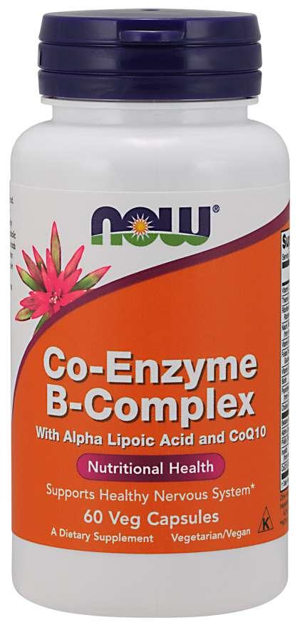 NOW® Foods NOW Co-Enzyme Vitamin B-komplex (aktivní koenzymová forma), 60 rostlinných kapslí