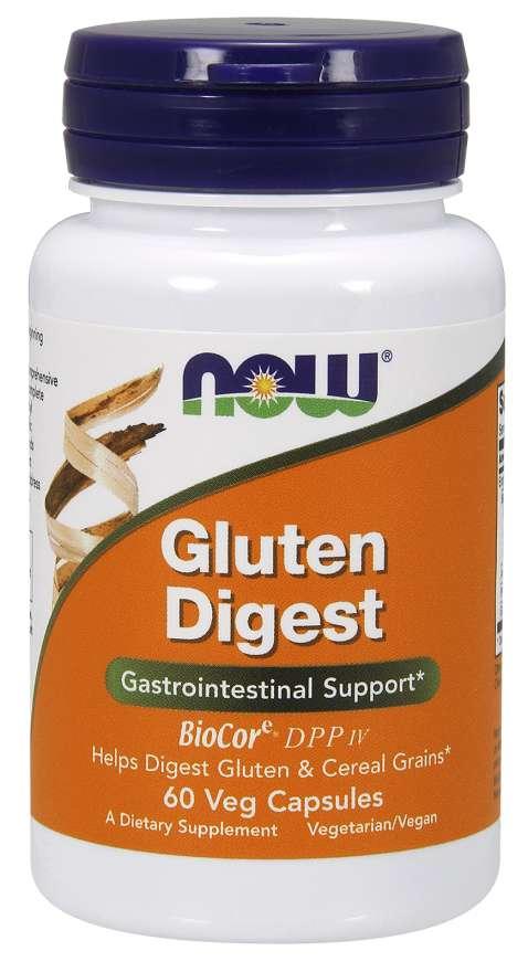 NOW® Foods NOW Gluten Digest, lepek trávící enzymy, 60 rostlinných kapslí
