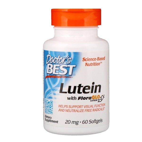 Doctor's Best Lutein s Lutemax, 20 mg, 60 softgel kapslí