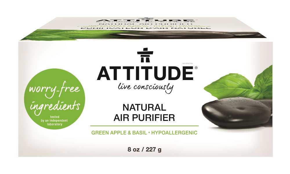 Attitude - Přírodní čistící osvěžovač vzduchu s esenciálními oleji s vůní zeleného jablka a bazalky, 227g