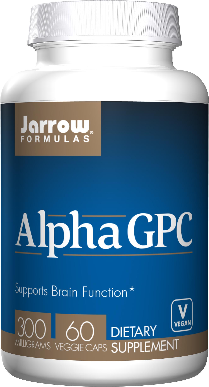 Jarrow Alpha GPC (L-alfa-glyceryl fosforyl cholin), 300 mg, 60 rostlinných kapslí