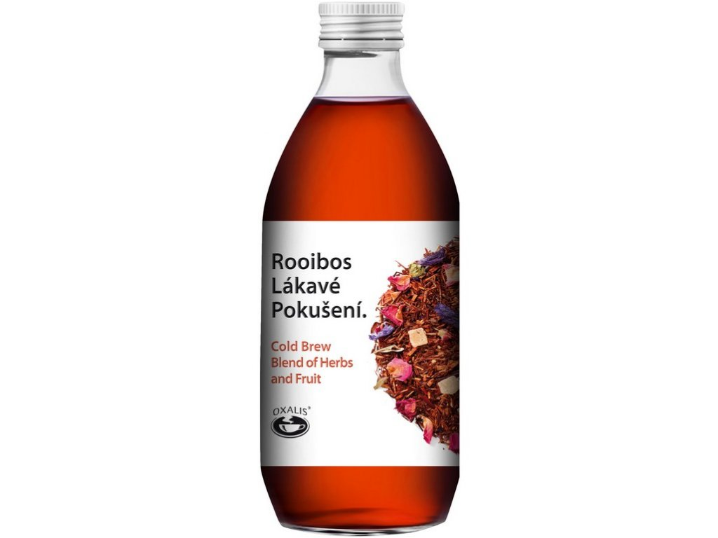 Oxalis Rooibos Lákavé pokušení - Cold Brew Blend of Herbs and Fruit, 330 ml