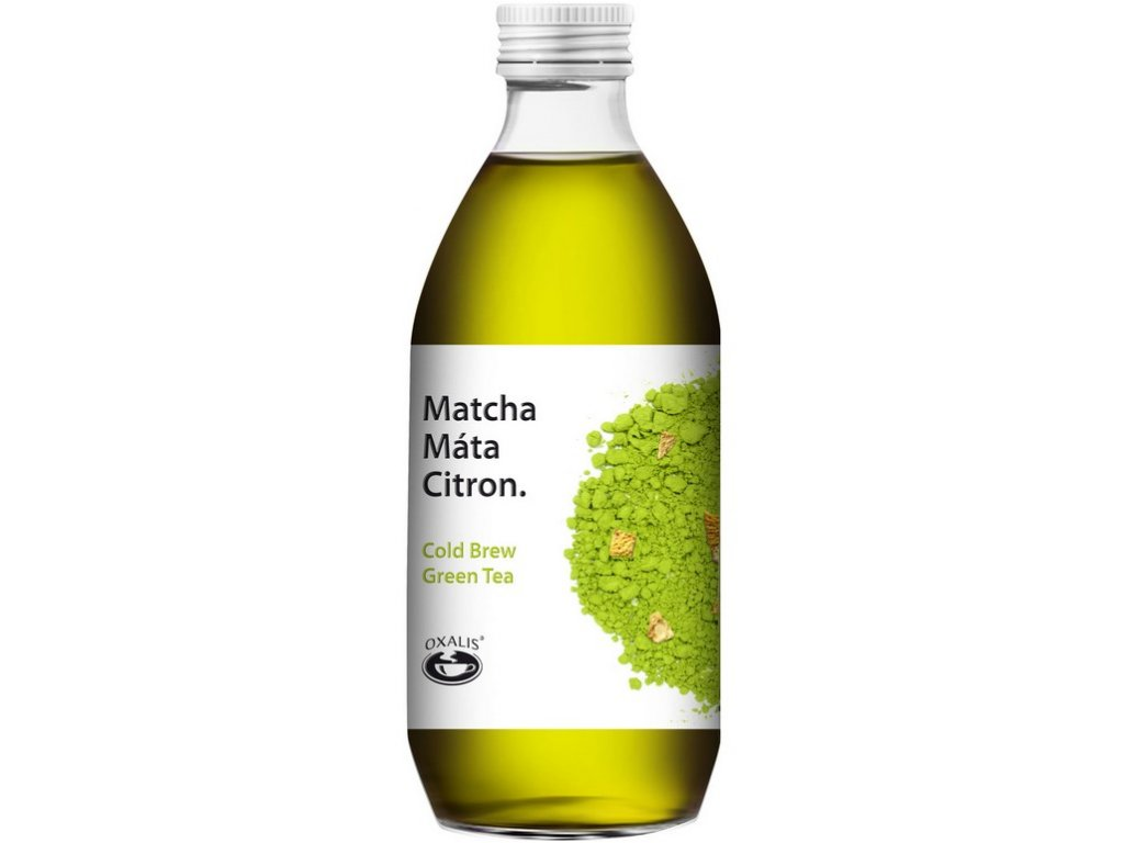 Oxalis Matcha Máta - citron - Cold Brew Green Tea, 330 ml