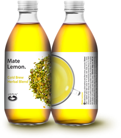 Oxalis Mate Lemon - Cold Brew Herbal Blend, 330 ml