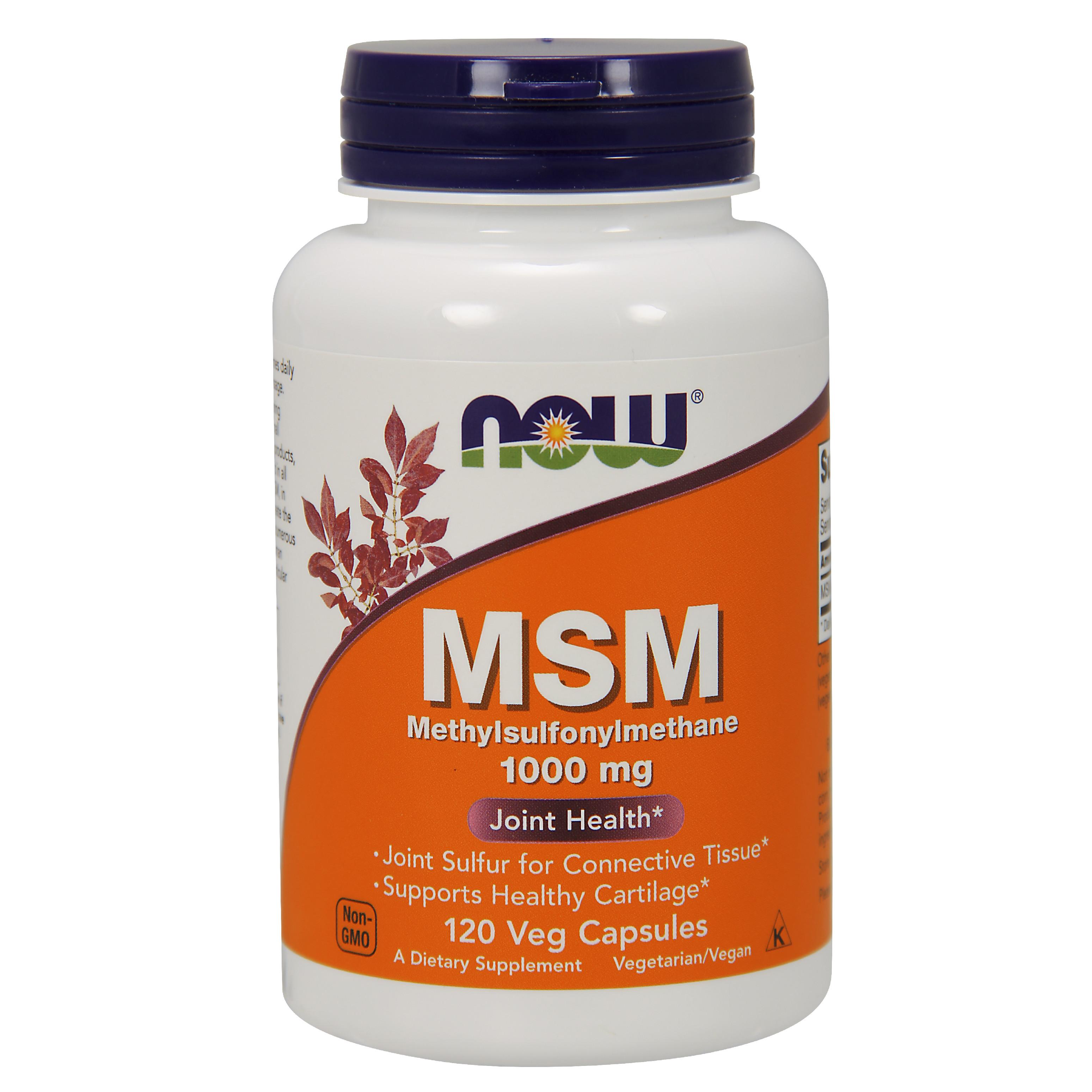 NOW® Foods NOW MSM (Methylsulfonylmethan), 1000 mg, 120 rostlinných kapslí