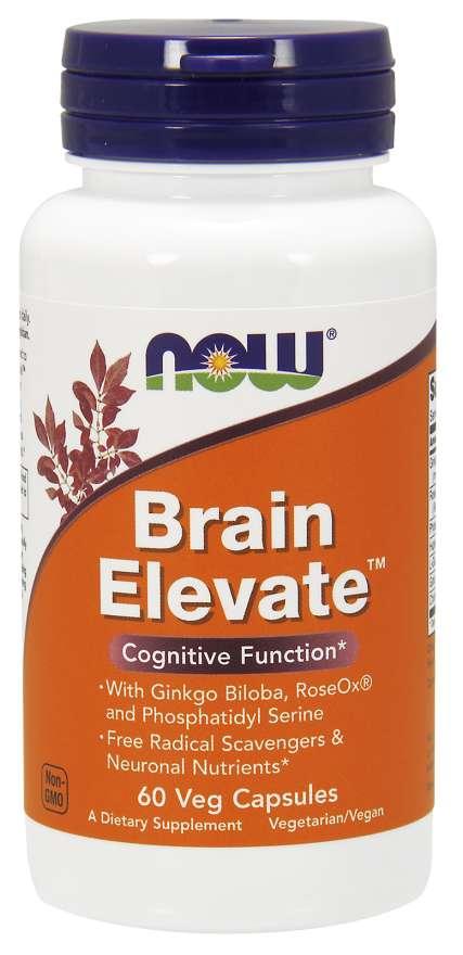 NOW® Foods NOW Brain Elevate (posílení mozku), 60 rostlinných kapslí