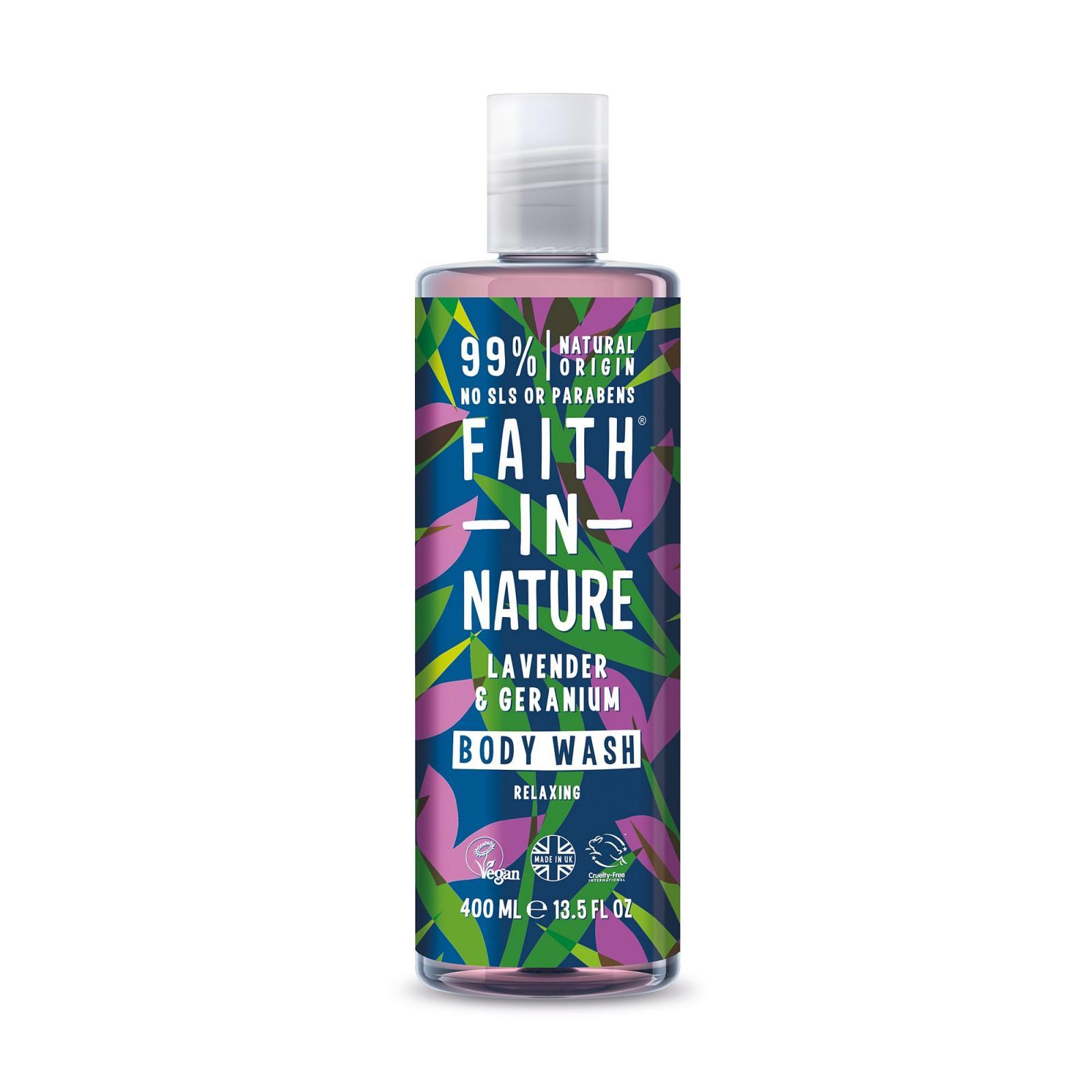 Faith in Nature, Přírodní sprchový gel - levandule, 400ml