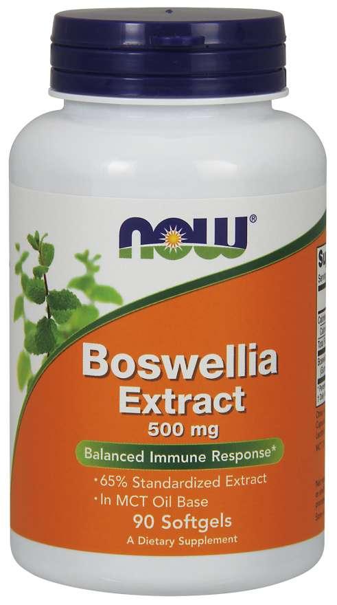 NOW® Foods NOW Boswellia Extrakt, 500 mg, 90 softgelových kapslí