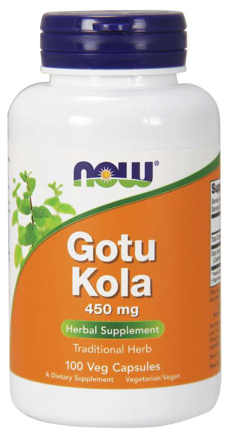 NOW Gotu Kola, 450 mg, 100 rostlinných kapslí